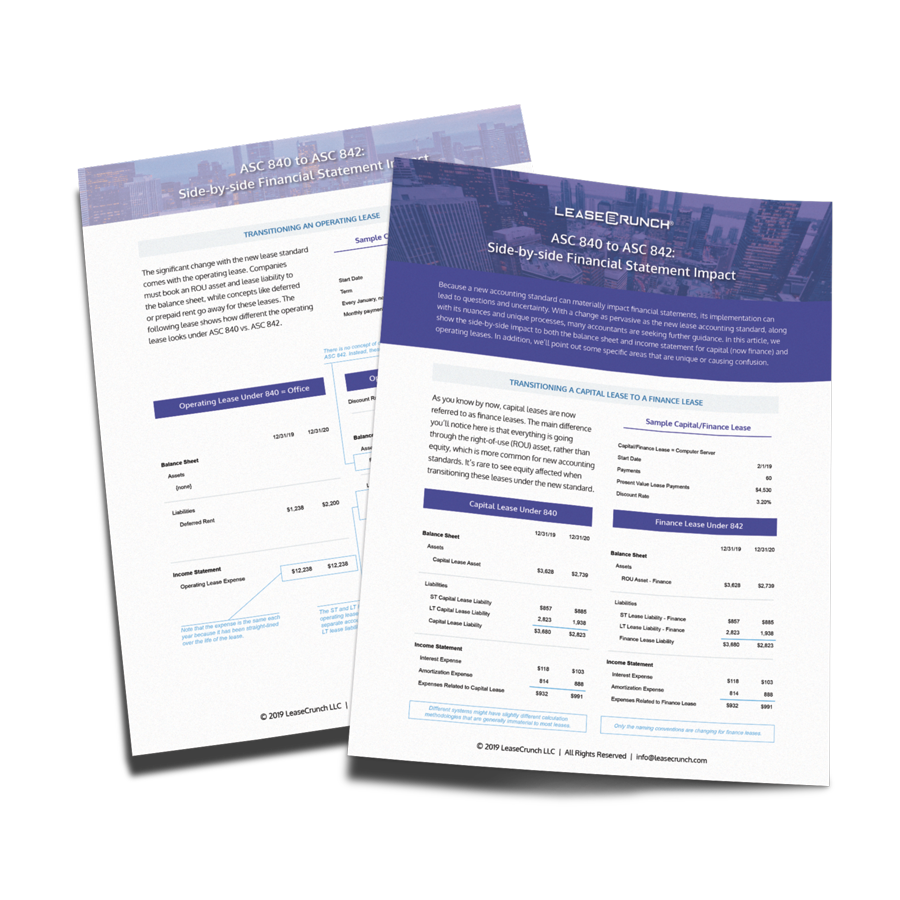 LeaseCrunch Side-by-Side Financial Statement Impact