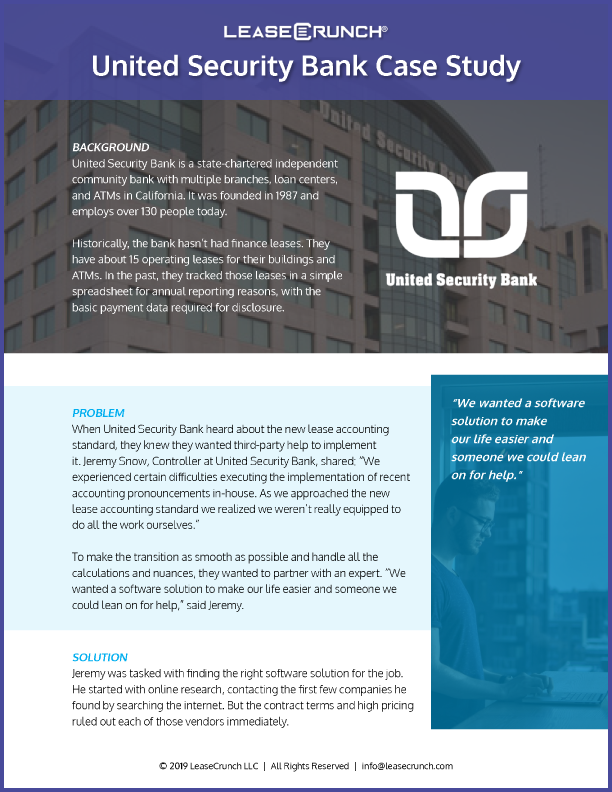 United Security Bank Case Study