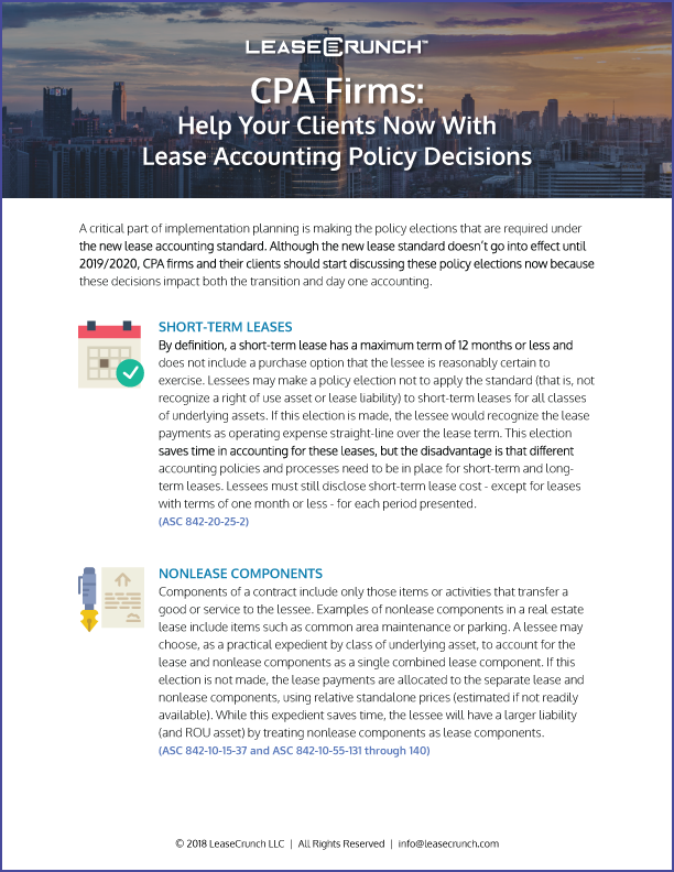 Help Your Clients Now With Lease Accounting Policy Decisions