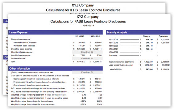 Automated quantitative footnote disclosures