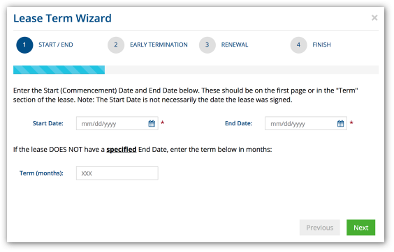 Leasing wizards for classification and lease term